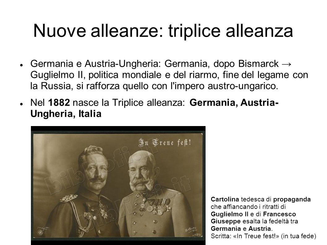 Nuove alleanze: triplice alleanza