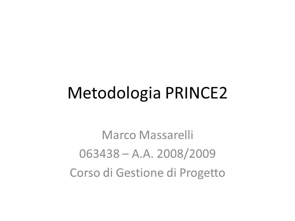 Marco Massarelli 063438 – A.A. 2008/2009 Corso di Gestione di Progetto