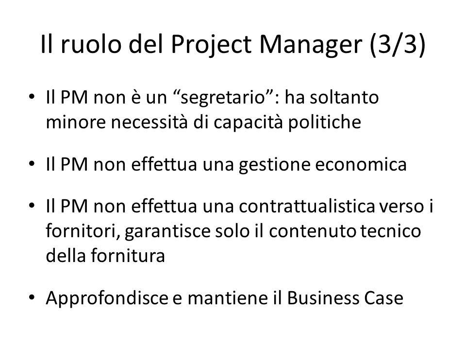 Il ruolo del Project Manager (3/3)