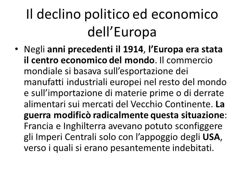 Il declino politico ed economico dell'Europa