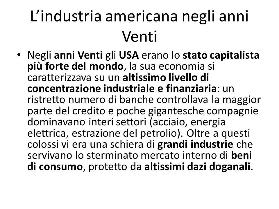 L'industria americana negli anni Venti