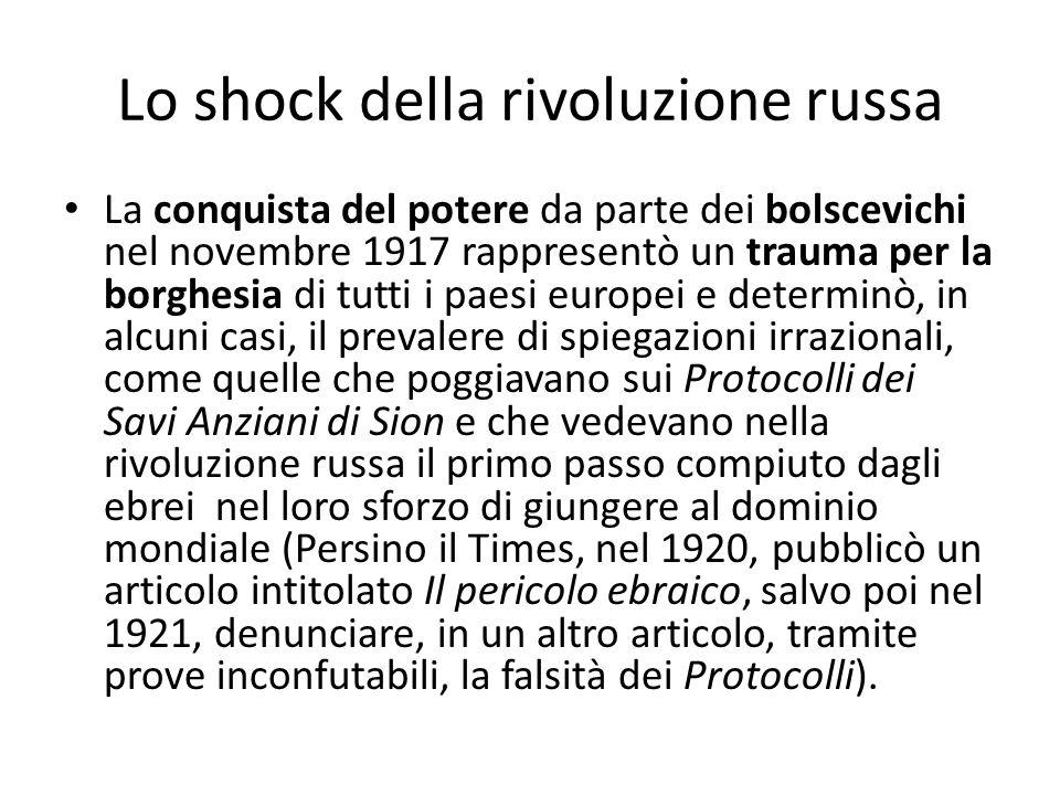 Lo shock della rivoluzione russa
