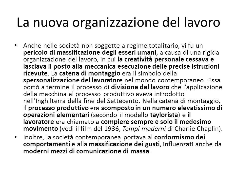La nuova organizzazione del lavoro
