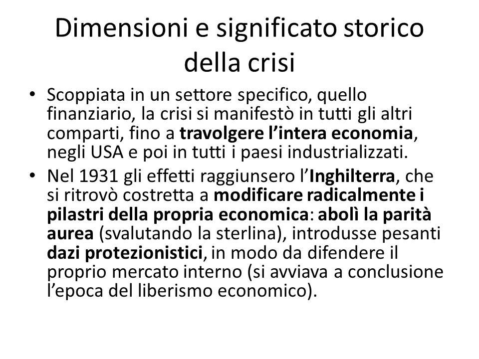 Dimensioni e significato storico della crisi