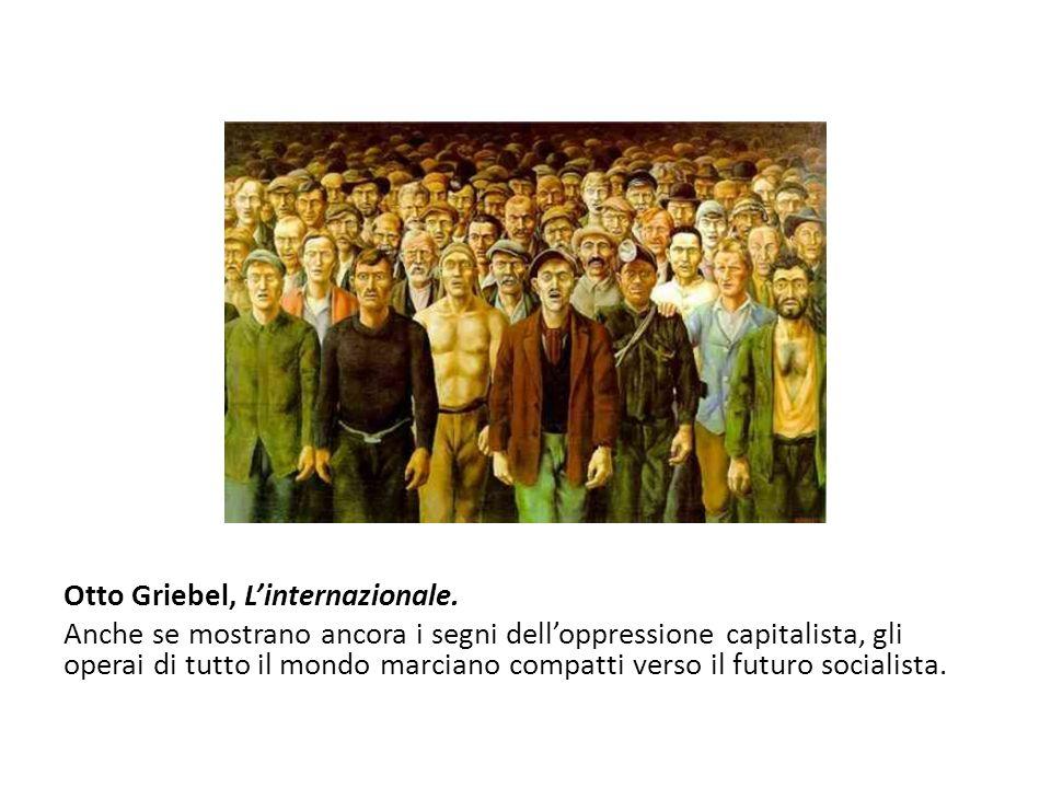 Otto Griebel, L'internazionale