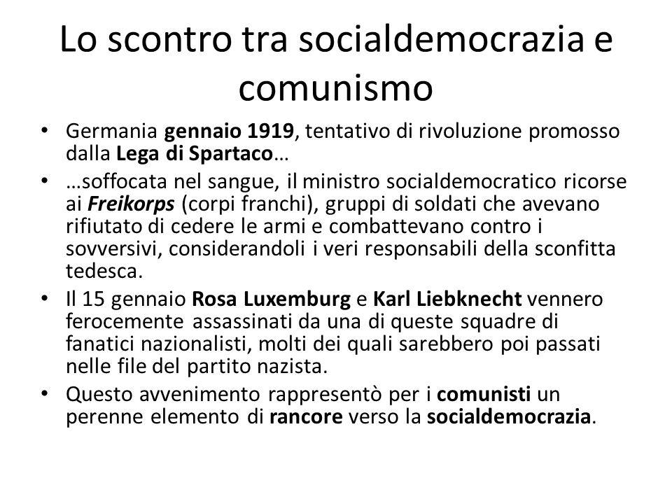 Lo scontro tra socialdemocrazia e comunismo