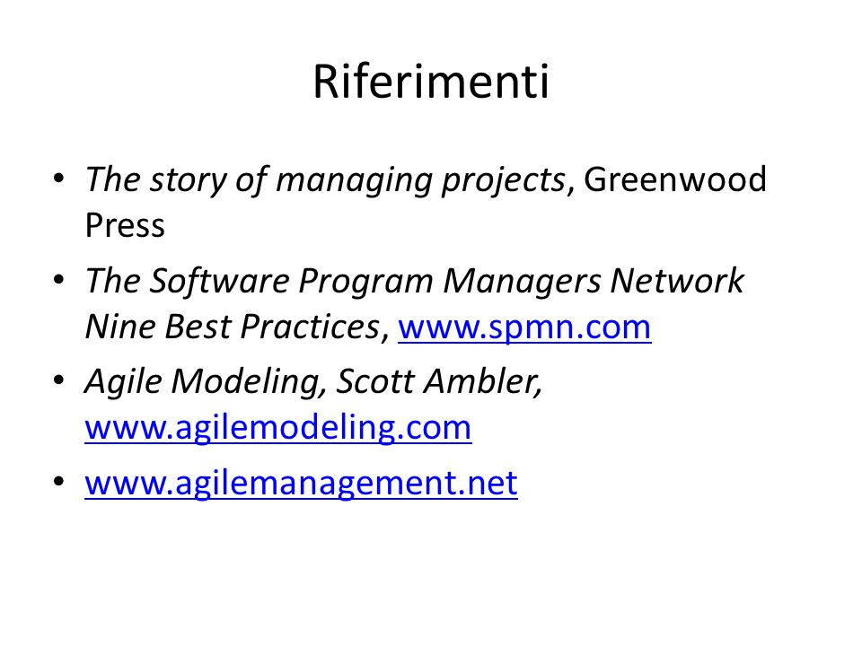 Riferimenti The story of managing projects, Greenwood Press