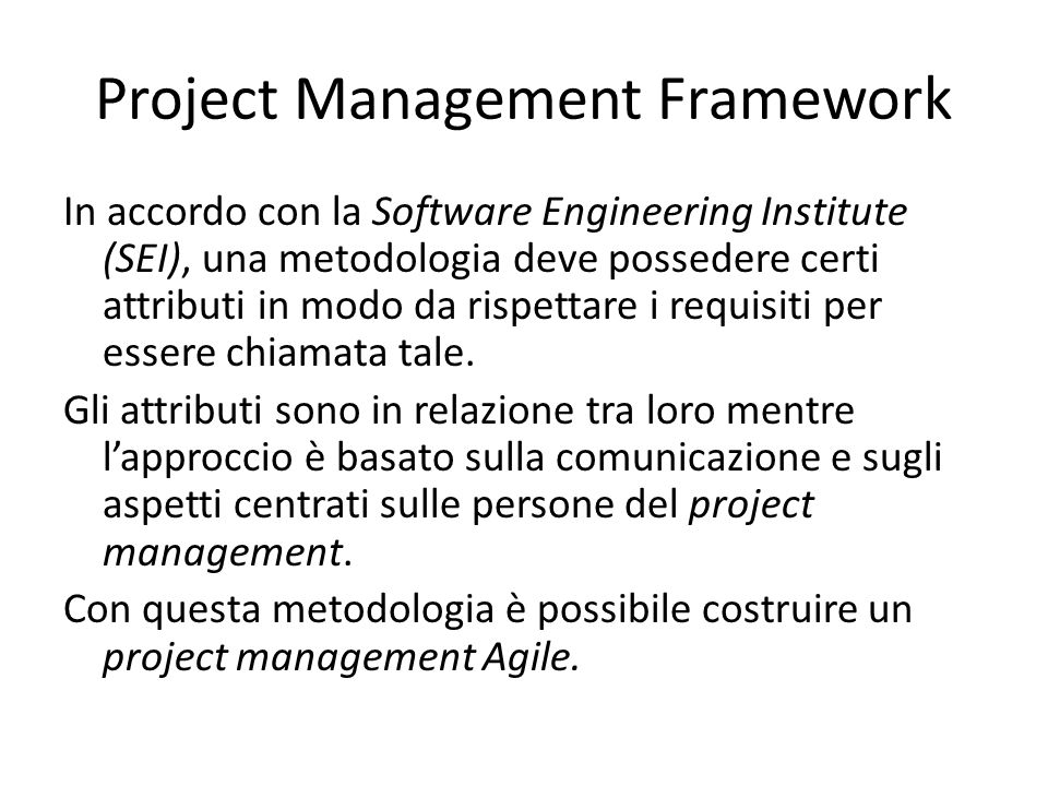 Project Management Framework