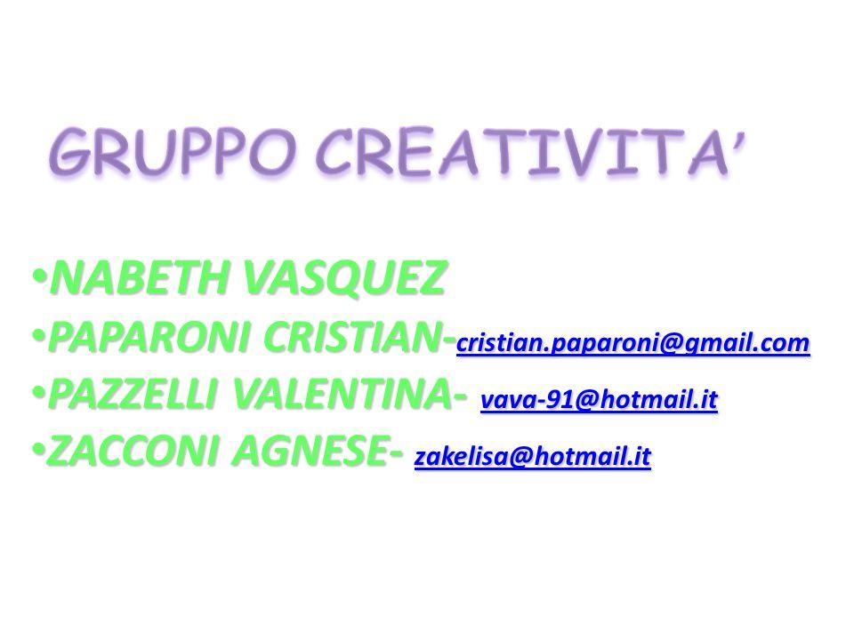 GRUPPO CREATIVITA' NABETH VASQUEZ