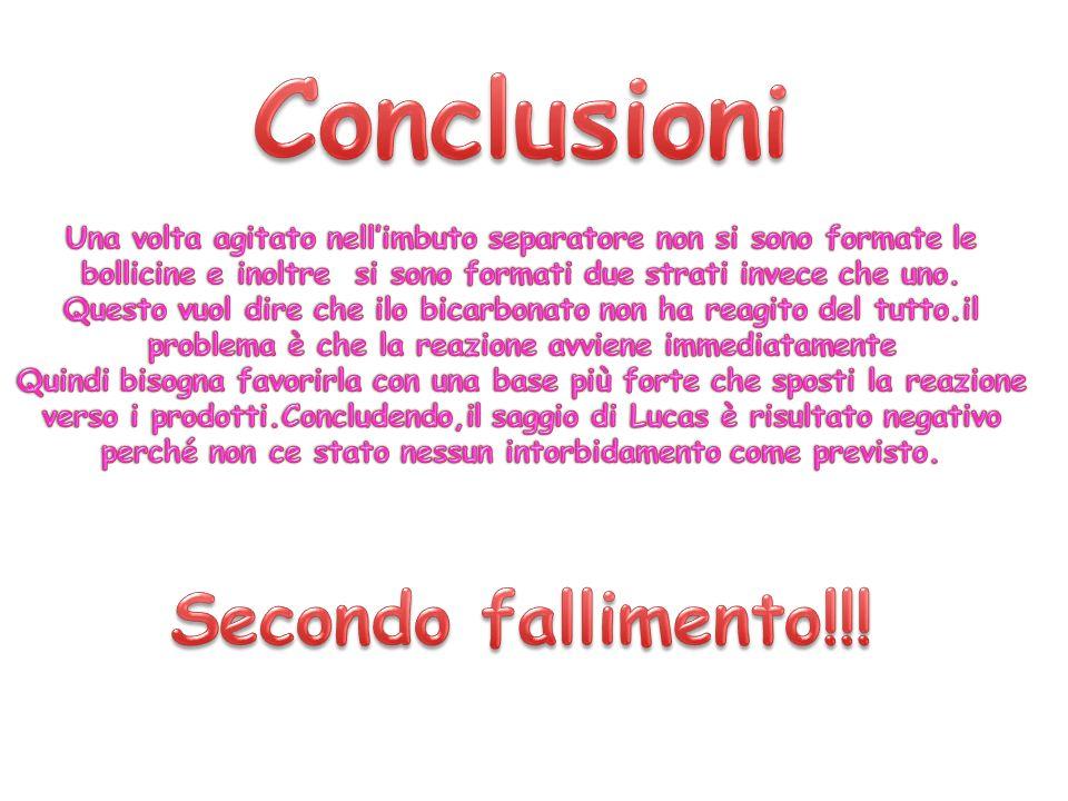 Conclusioni Secondo fallimento!!!