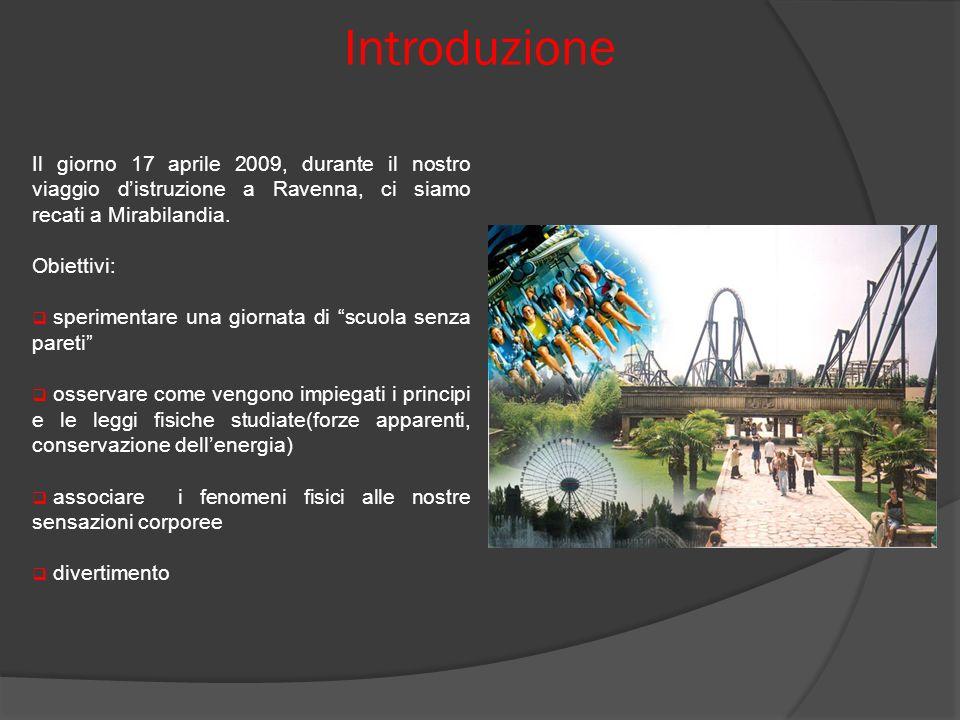 Introduzione Il giorno 17 aprile 2009, durante il nostro viaggio d'istruzione a Ravenna, ci siamo recati a Mirabilandia.