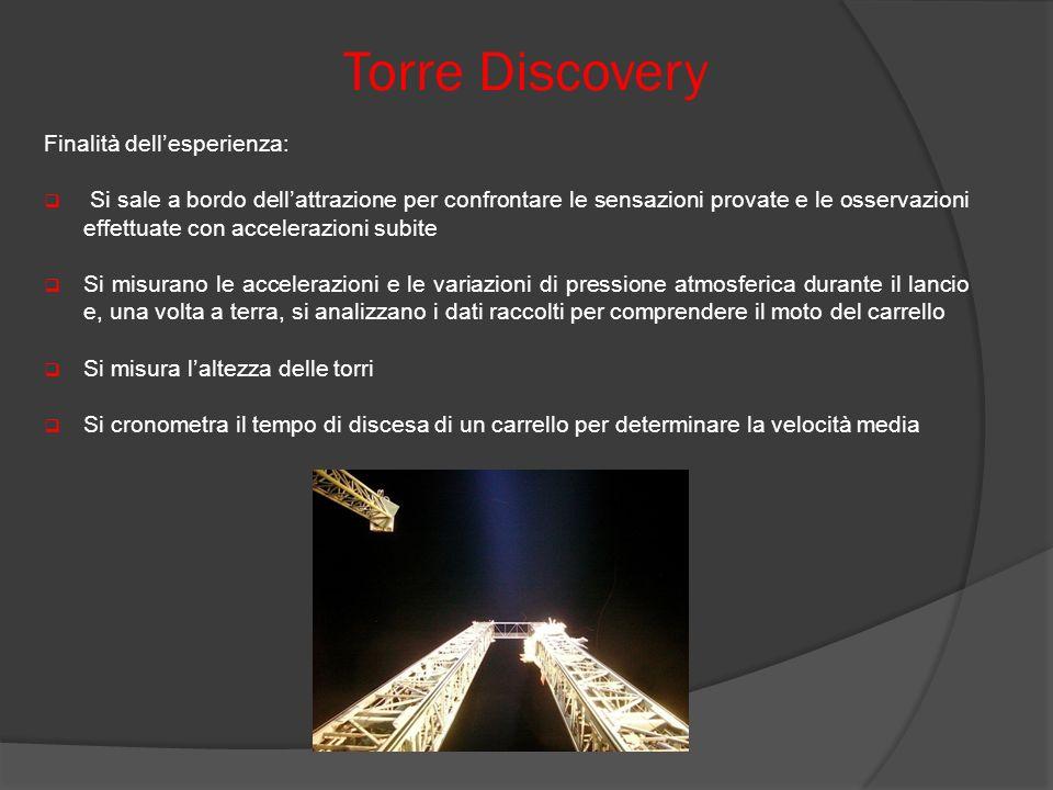 Torre Discovery Finalità dell'esperienza: