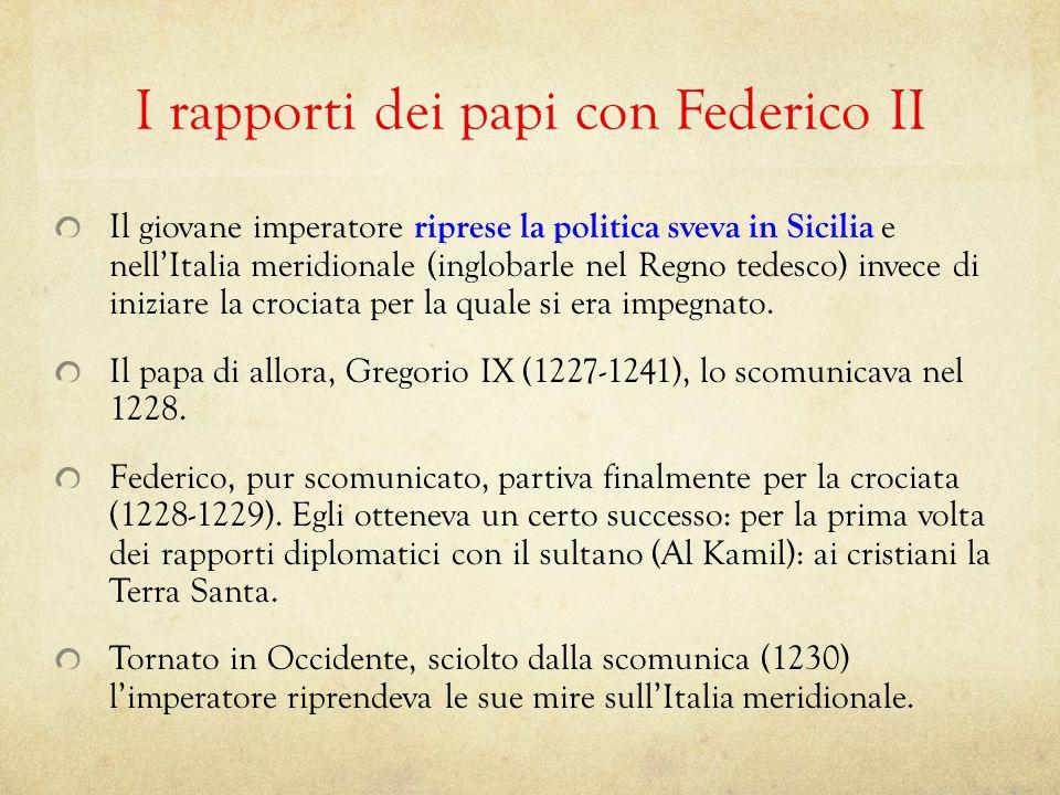 I rapporti dei papi con Federico II