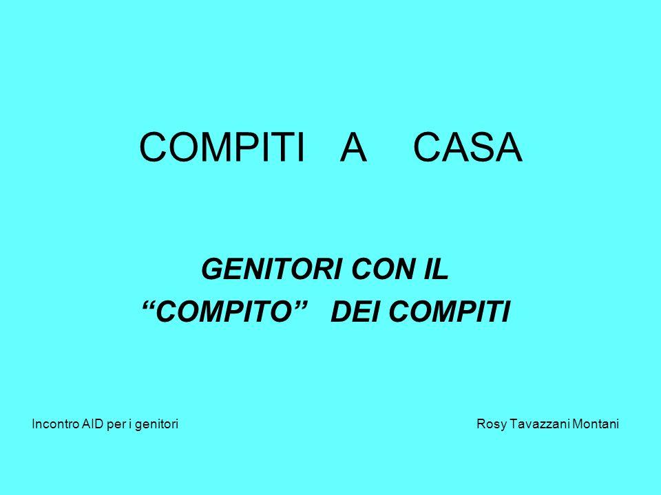 COMPITI A CASA GENITORI CON IL COMPITO DEI COMPITI