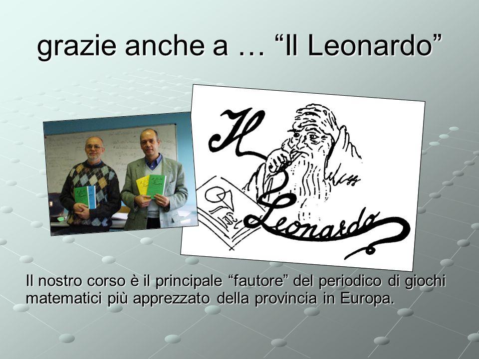 grazie anche a … Il Leonardo