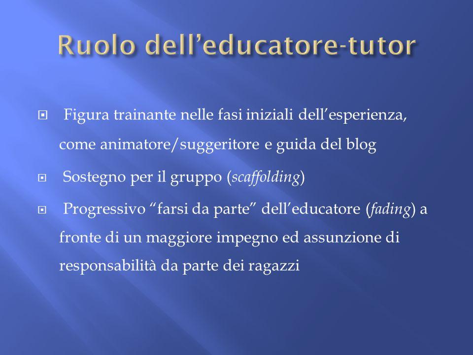 Ruolo dell'educatore-tutor
