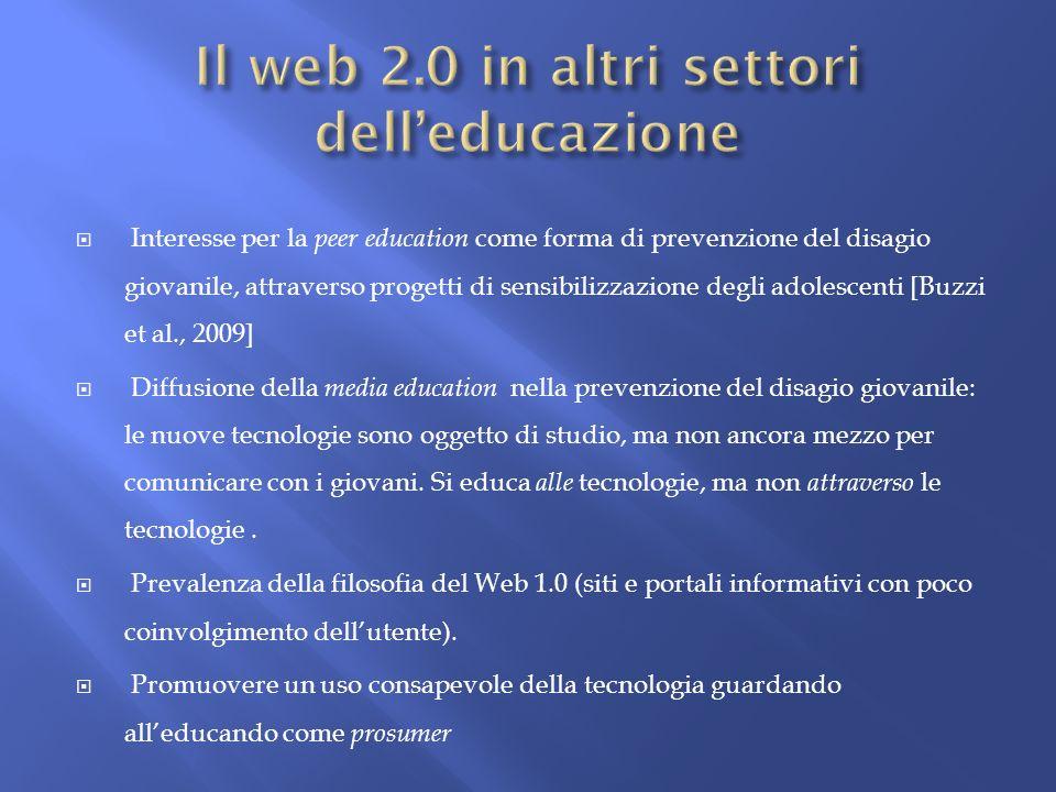 Il web 2.0 in altri settori dell'educazione