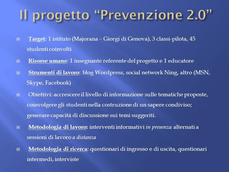 Il progetto Prevenzione 2.0