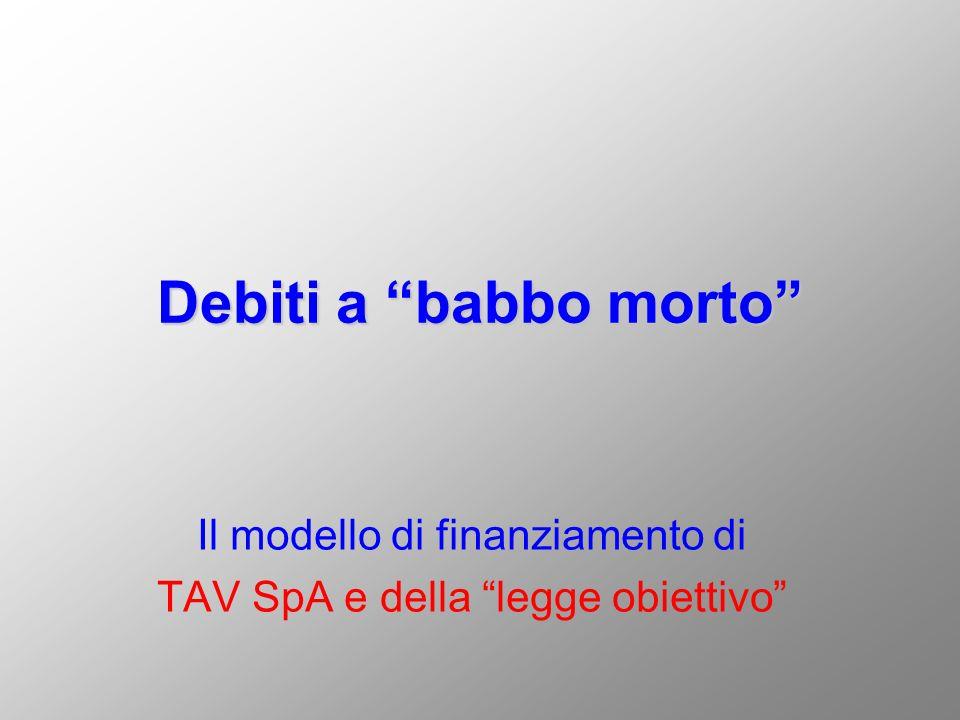 Il modello di finanziamento di TAV SpA e della legge obiettivo