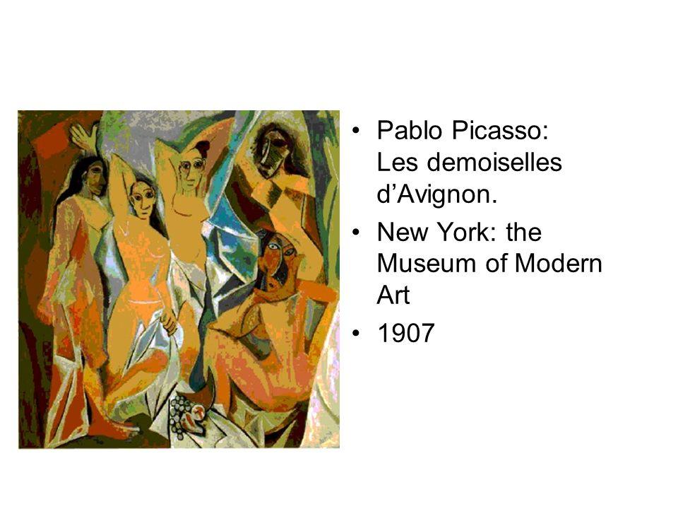 Pablo Picasso: Les demoiselles d'Avignon.