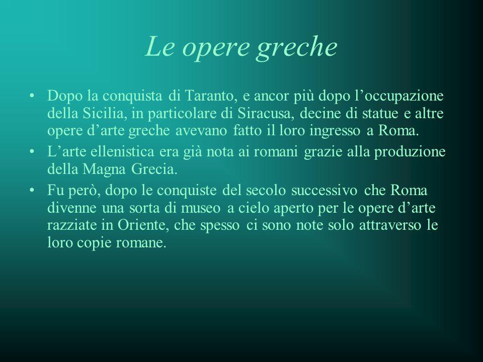 Le opere greche