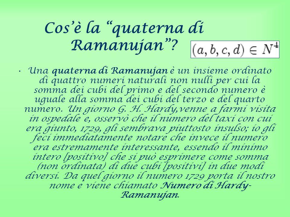 Cos'è la quaterna di Ramanujan