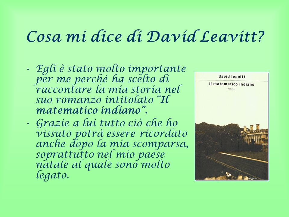 Cosa mi dice di David Leavitt
