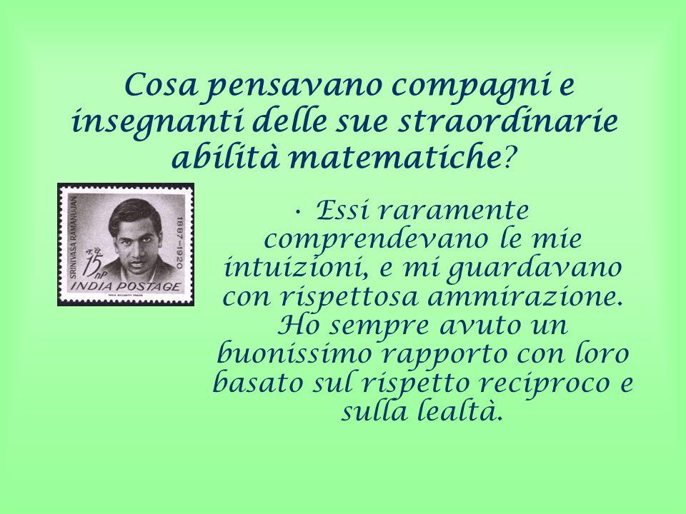 Cosa pensavano compagni e insegnanti delle sue straordinarie abilità matematiche