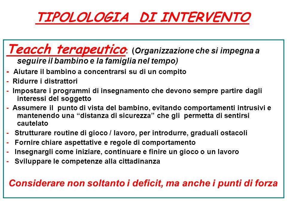 TIPOLOLOGIA DI INTERVENTO