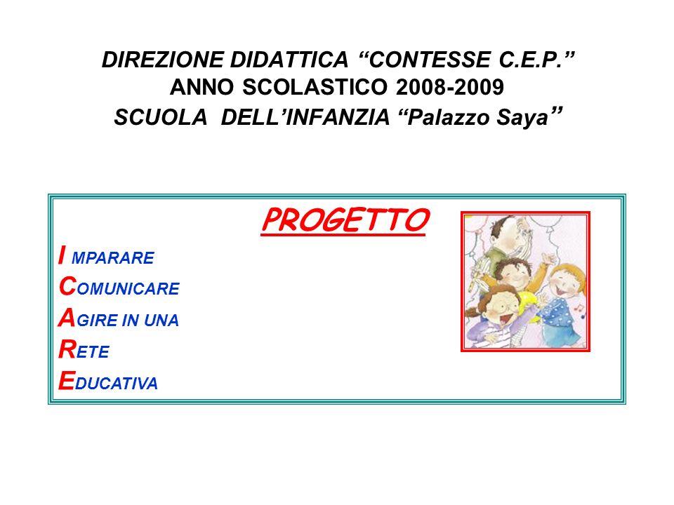 PROGETTO I MPARARE COMUNICARE AGIRE IN UNA RETE EDUCATIVA