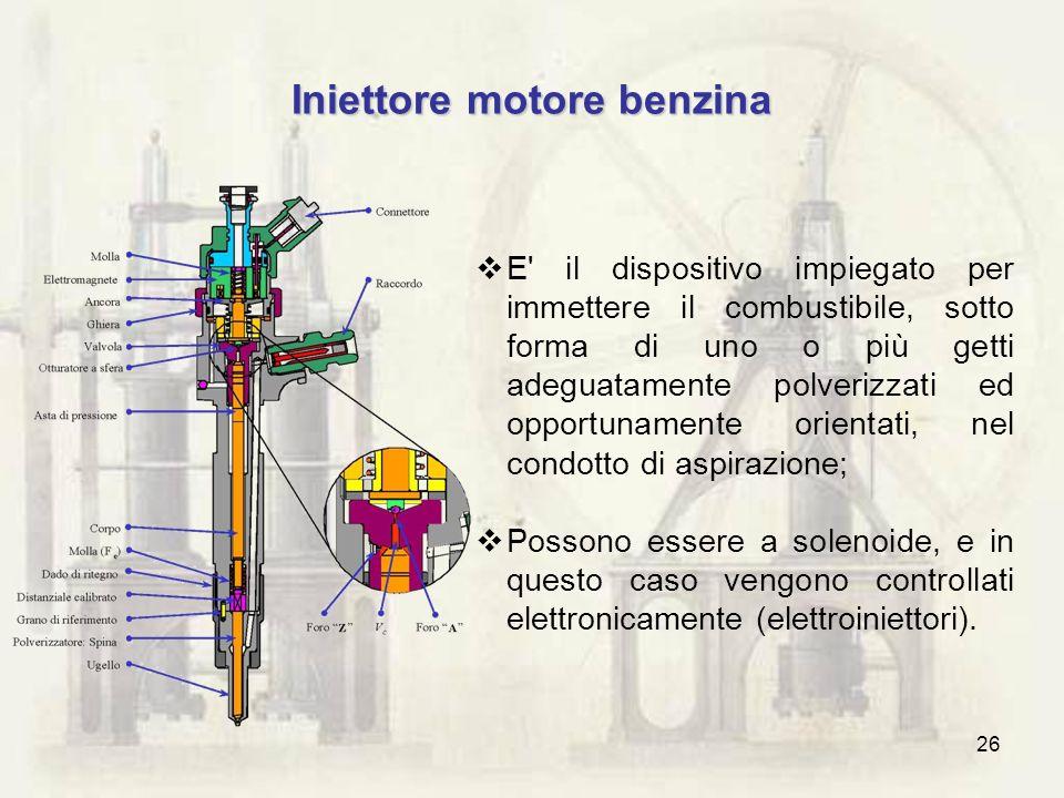 Iniettore motore benzina