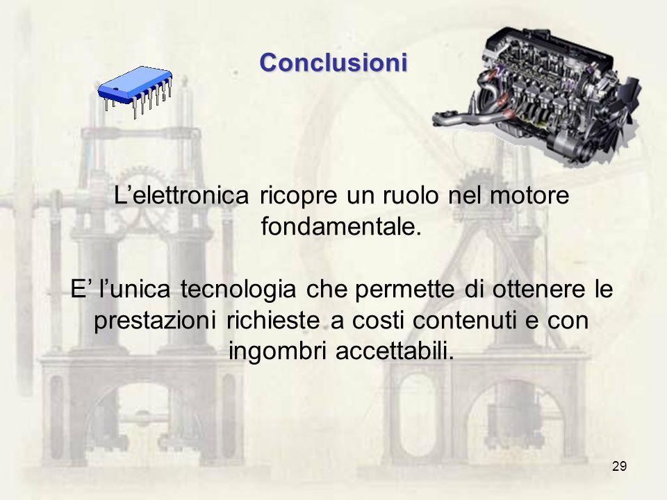 L'elettronica ricopre un ruolo nel motore fondamentale.
