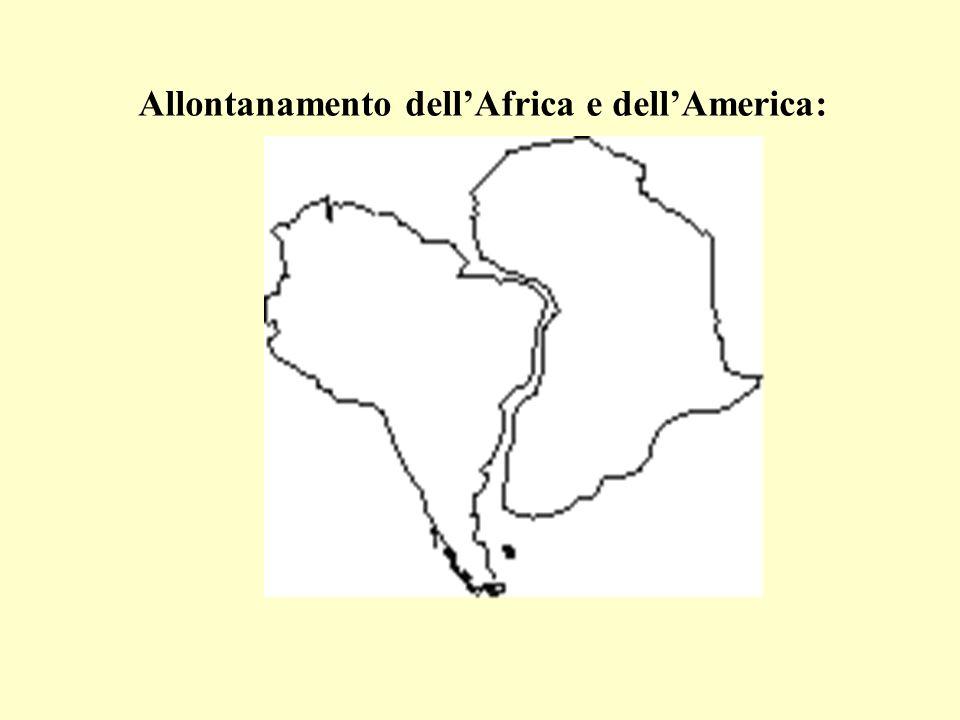Allontanamento dell'Africa e dell'America: