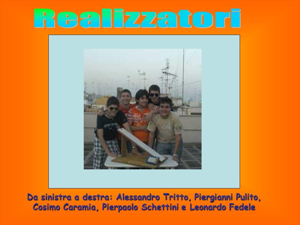 RealizzatoriDa sinistra a destra: Alessandro Tritto, Piergianni Pulito, Cosimo Caramia, Pierpaolo Schettini e Leonardo Fedele.