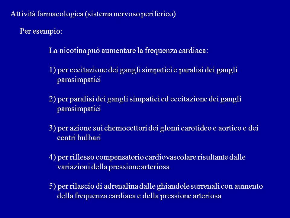 Attività farmacologica (sistema nervoso periferico)