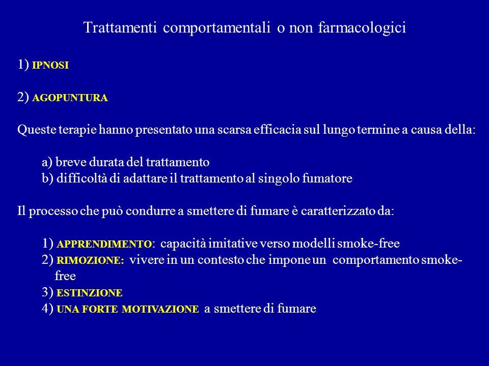 Trattamenti comportamentali o non farmacologici