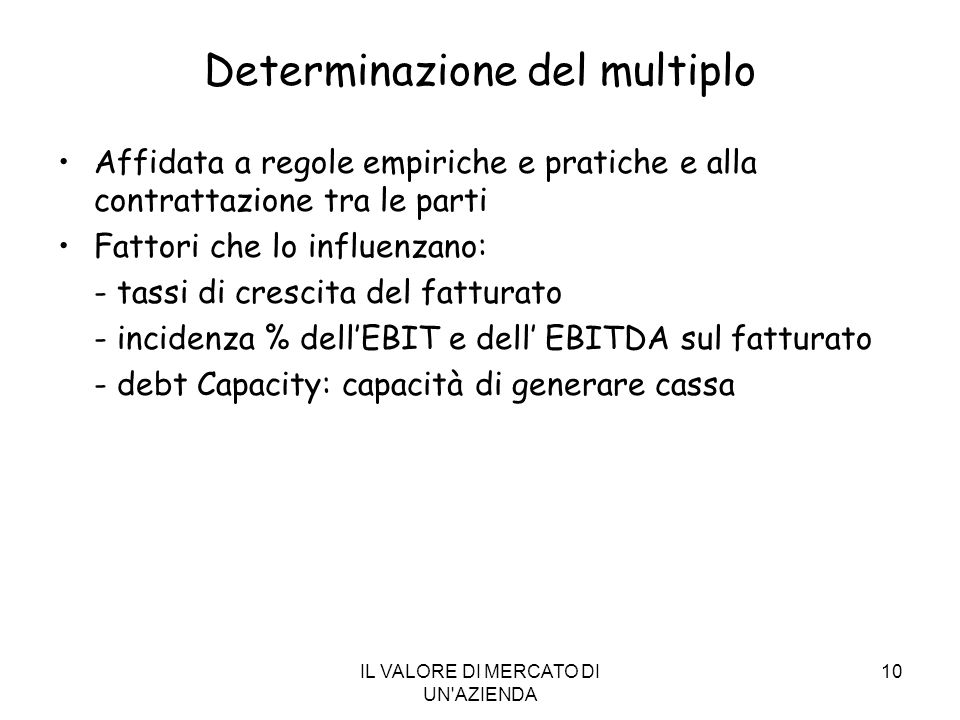 Determinazione del multiplo