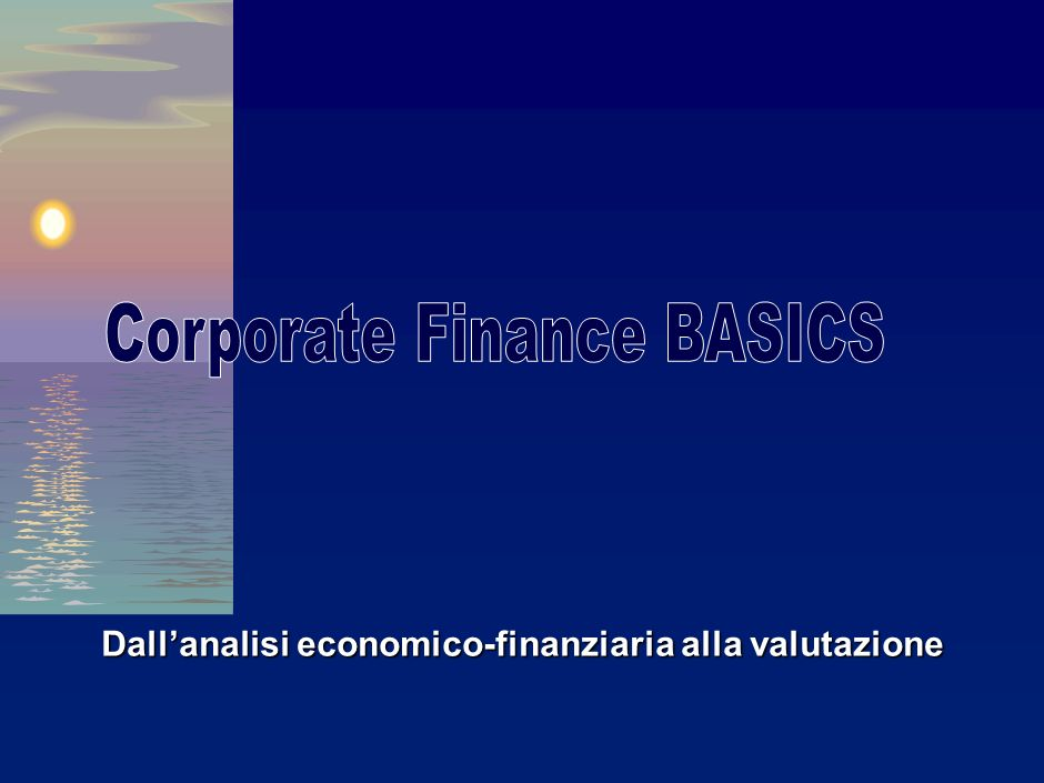 Corporate Finance BASICS