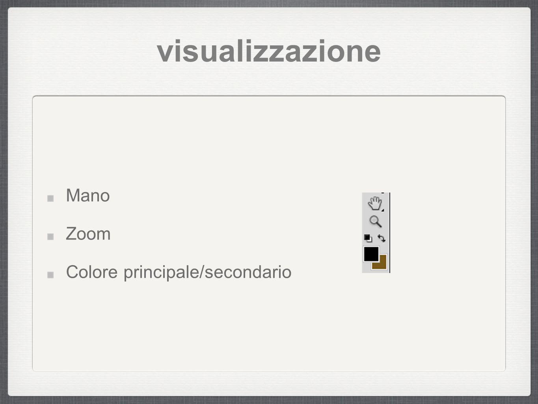 visualizzazione Mano Zoom Colore principale/secondario