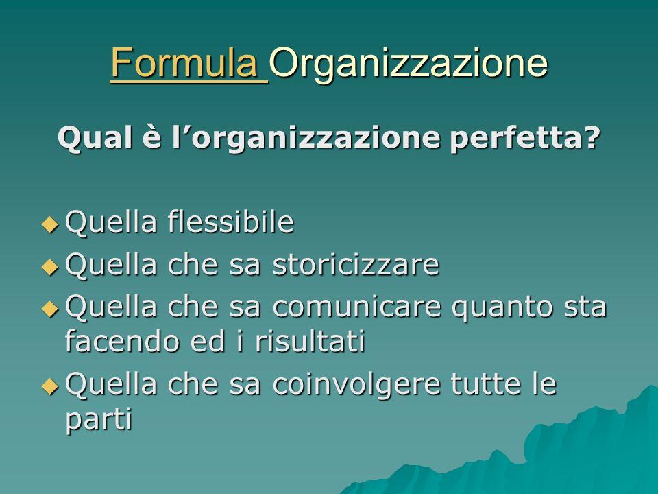 Formula Organizzazione