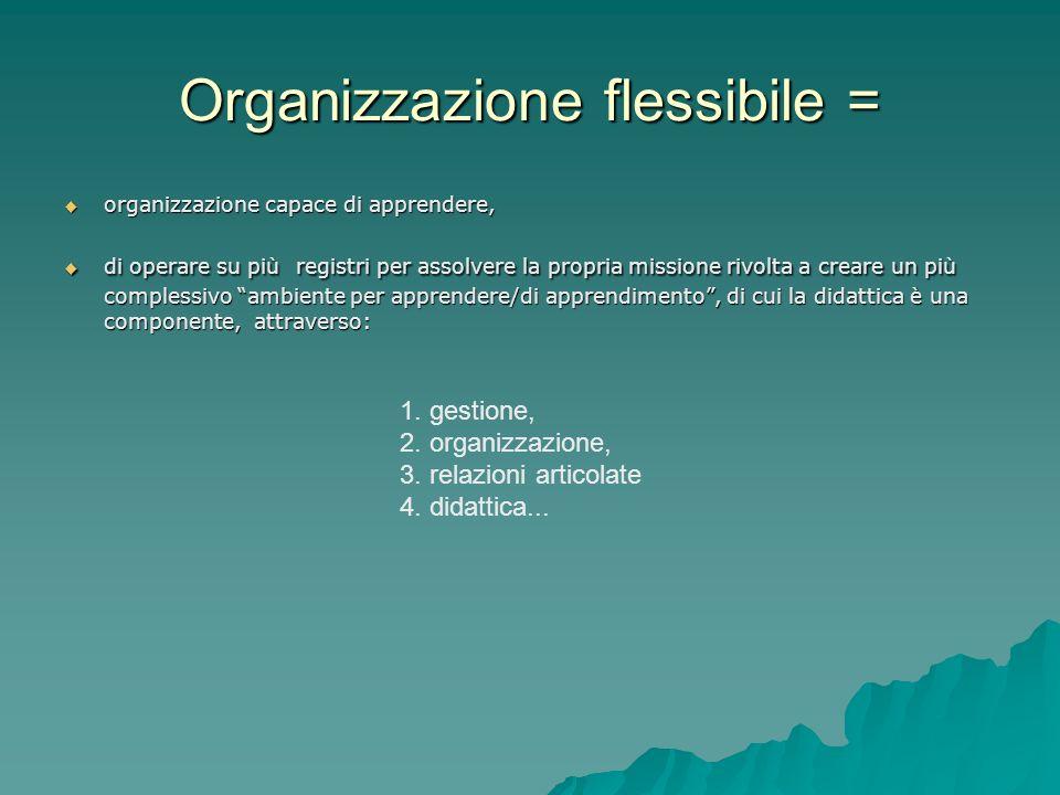 Organizzazione flessibile =