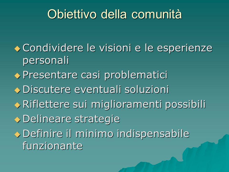 Obiettivo della comunità