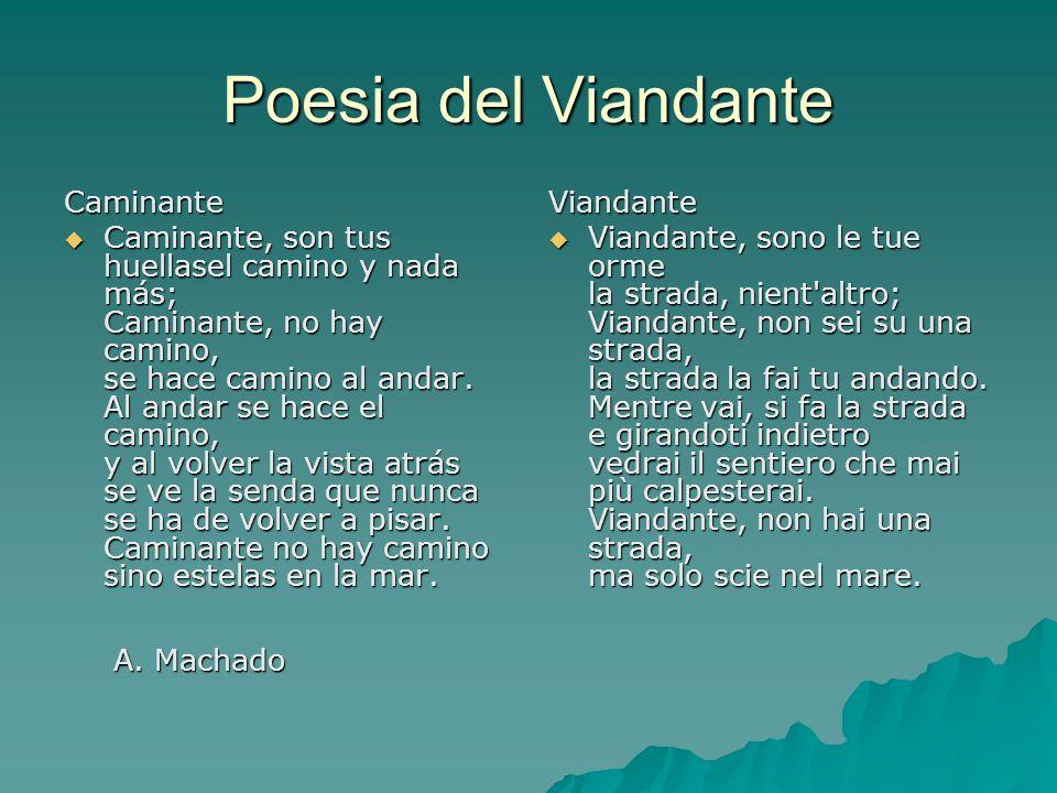 Poesia del Viandante Caminante