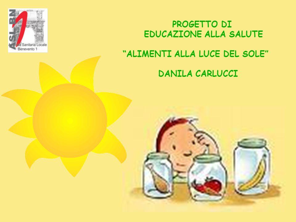 PROGETTO DI EDUCAZIONE ALLA SALUTE ALIMENTI ALLA LUCE DEL SOLE DANILA CARLUCCI