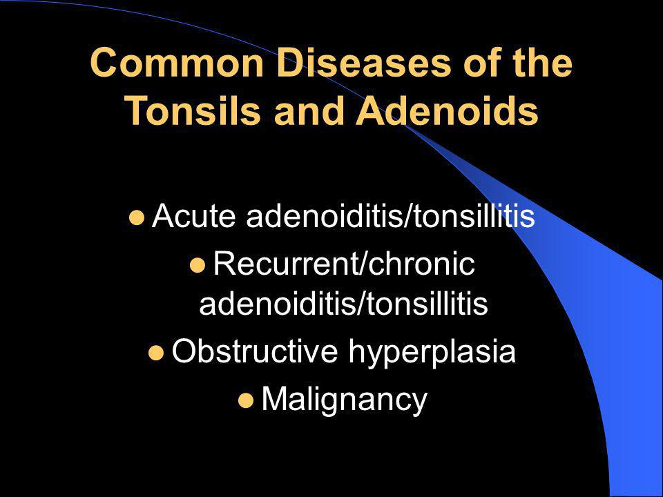 Common Diseases of the Tonsils and Adenoids