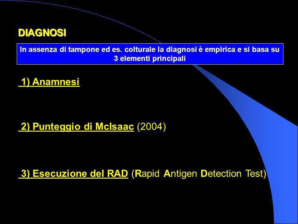 2) Punteggio di McIsaac (2004)