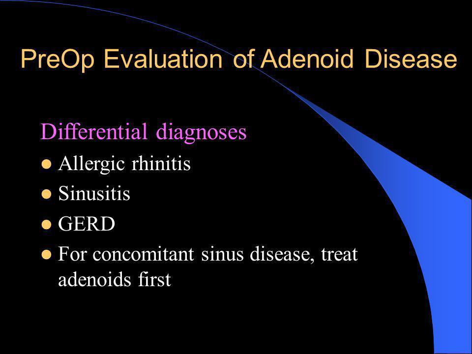 PreOp Evaluation of Adenoid Disease