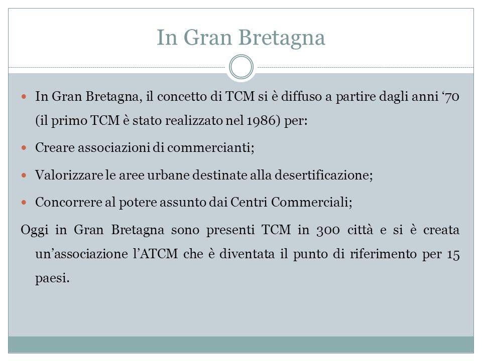 In Gran Bretagna In Gran Bretagna, il concetto di TCM si è diffuso a partire dagli anni '70 (il primo TCM è stato realizzato nel 1986) per: