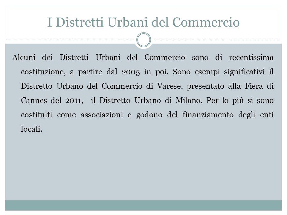 I Distretti Urbani del Commercio