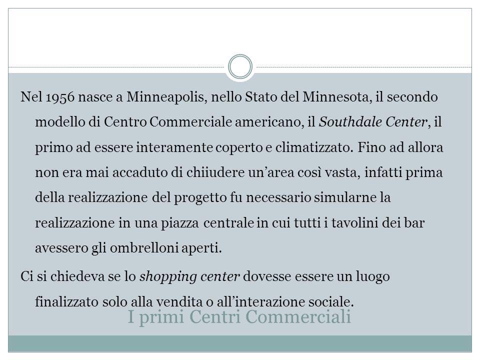 I primi Centri Commerciali